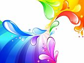 Vector of multicolored drops background