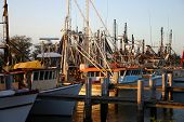 Trawlers At Sunset