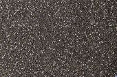 A Background Pattern Texture Made By Taking A Photo Of Hundreds Of Tiny Black Chia Seeds, Although T poster