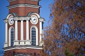 stock photo of knoxville tennessee  - Knoxville courthouse seen in the autumn scenery - JPG