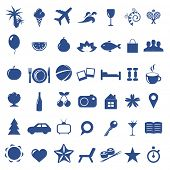 Tourism And Vacation Icons, Isolated On White Background, Vector Illustration