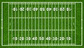 US-amerikanischer American Football-Feld, isolated on white Background, Vector illustration