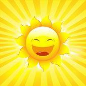 Постер, плакат: Солнце и лучи векторные иллюстрации