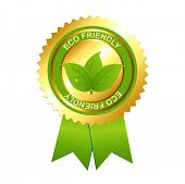 foto of environmentally friendly  - Eco Friendly Emblem - JPG
