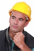 Builder holding clenched fist