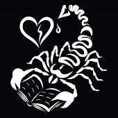 Scorpio With A Book Stinging In The Heart poster