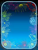illustration of Fireworks border