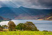 Sunbeams At Crummock Water, A Lake In The English Lake District Which Is Now A Unesco World Heritage poster