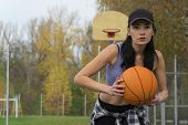 Play Ball 2. Basketball. Sports Girl. Basketball Outdoors. Throw Ball 2 poster