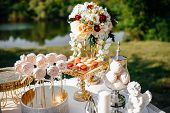 Candy Bar. Table With Sweets, Candies, Dessert poster