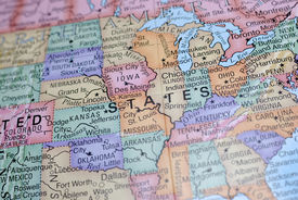 stock photo of united states map  - Macro Globe Map Detail 03 - JPG