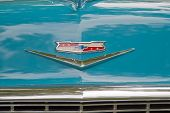 1956 Chevy Bel Air Emblem Close Up