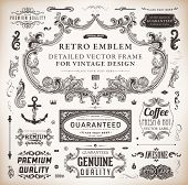 foto of nostalgic  - Vector set of calligraphic design elements - JPG