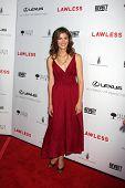 LOS ANGELES - 22 de AUG: Anna Wood llega en LA Premiere de