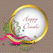 Beautiful greeting card for Hindu community festival Diwali or Deepawali in India. EPS 10.