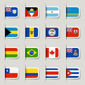 Label - World Flags