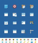 Vector common website icons for webmasters