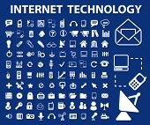 pic of glyphs  - internet technology icons set - JPG