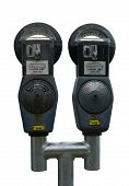 Isolated Twin Parking Meters