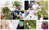 Garden party wedding - collage of images