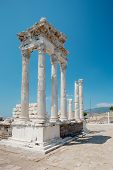 Temple of Trajan at Acropolis of Pergamon in Turkey