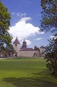 picture of suceava  - Landscape in Romania Church of christian orthodox monastery in Dragomirna Suceava Moldova - JPG