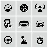 foto of lap  - Race icons set - JPG