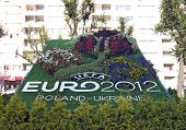 Lvov, Ukraine - August 18: Official Logotype Uefa Euro 2012, Lvov, Ukraine, August 18, 2011.