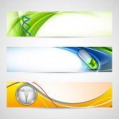 Set of medical banners or website headers. EPS 10.