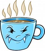 foto of nasty  - Nasty Mean Bad Coffee Cup Vector Illustration Art - JPG