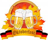 Oktoberfest design with beer glasses