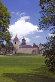 image of suceava  - Landscape in Romania Church of christian orthodox monastery in Dragomirna Suceava Moldova - JPG