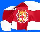 Bandeira da cidade de Almeria, Espanha.