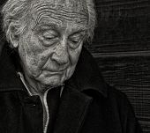 stock photo of compassion  - Outdoor Portrait of a senior man with Sadness - JPG