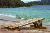 Praia, ilha de Handa - Escócia