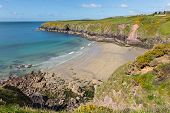 Caerfai Bay Pembrokeshire West Wales UK near St Davids