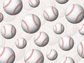 Baseball Balls Background