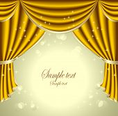Background with gold  drapes