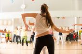 stock photo of dancing  - Dance class for women at fitness centre - JPG