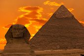The Sphinx And Great Pyramid, Egypt