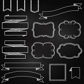 picture of outline  - Vector Collection of Chalkboard Style Banners - JPG
