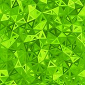 Green abstract triangles vector background