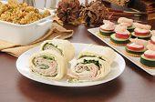Turkey Pinwheel Sandwich