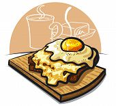 Cheese Toast With Egg