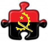 Angola Button Flag Puzzle Shape