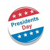 stock photo of state shapes  - a red white and blue icon for presidents day - JPG