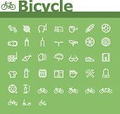 Bicycle icon set