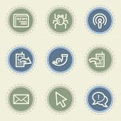 Internet  web icon set 2, vintage buttons