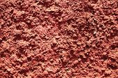 Texture Of Red Bumpy Cement Wall