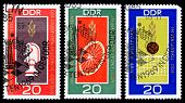 Ddr Stamps, World Championships In East Germany
